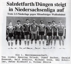 Die VSG-Herren in den 80er Jahren