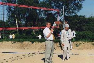 Beach-Volleyballfeld Eröffnung